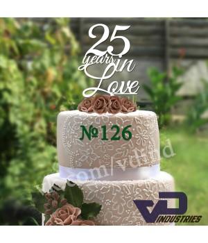 """Топпер №126 """"25 years in Love"""""""