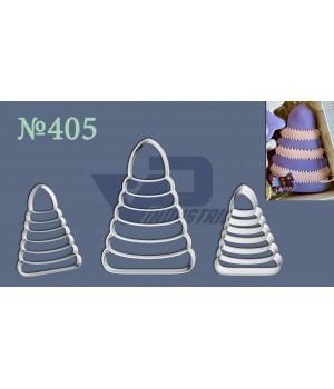 """Вырубка №405 """"Пирамидка"""" с отттиском"""