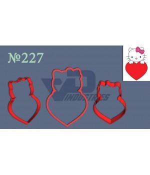 """Вырубка №227 """"Китти с сердцем"""""""