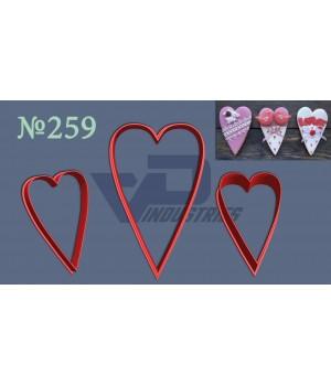 """Вырубка №259 """"Сердце удлиненное узкое"""""""