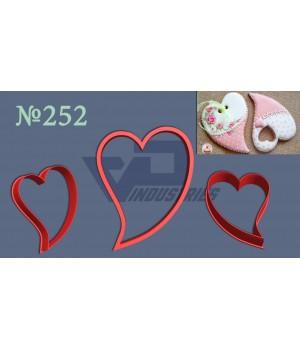 """Вырубка №252 """"Сердце удлиненное изогнутое"""""""