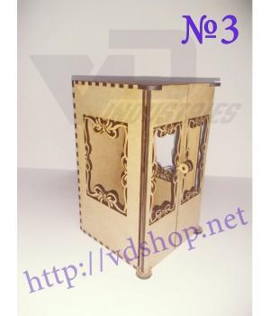 """Коробочка №3 """"Прямоугольная с дверками"""""""