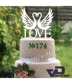 "Топпер №174 ""LOVE с лебедями"""