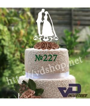 """Топпер №227 """"Силуэт Жениха и невесты"""""""