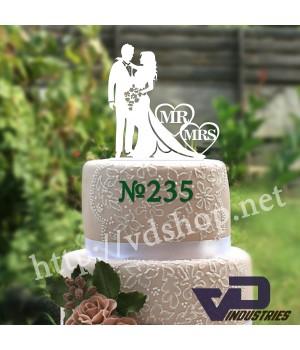 """Топпер №235  """"Жених и невеста MR&MRS"""""""