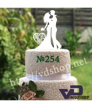 """Топпер №254  """"Жених и невеста Mr&Mrs"""""""
