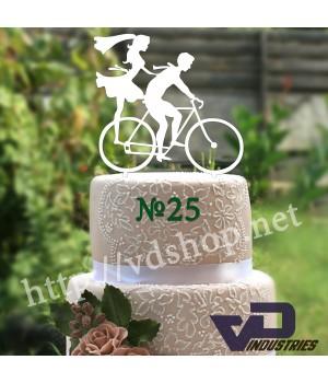 """Топпер №25 """"Жених и невеста на велосипеде"""""""
