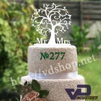 """Топпер №277 """"Дерево с MR&MRS"""""""