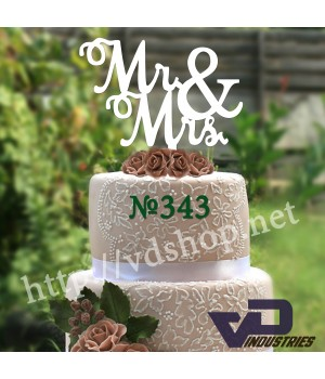 """Топпер №343 """"MR&MRS"""""""