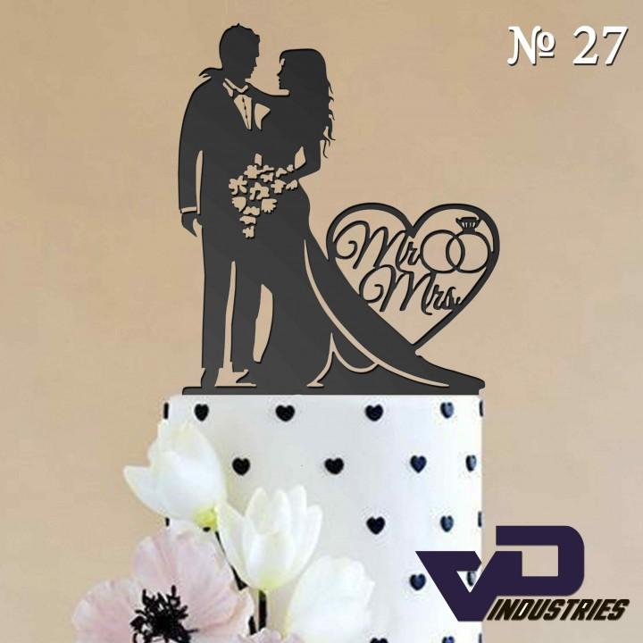 """Топпер №27 """"Жених и невеста Mr&Mrs"""""""