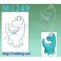 "Трафарет многоразовый контурный №1249 ""Титанозавр"""