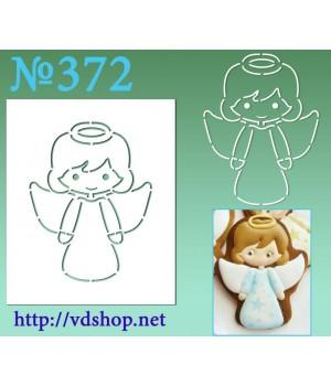 """Трафарет для расписного пряника №372""""Ангелочек"""""""