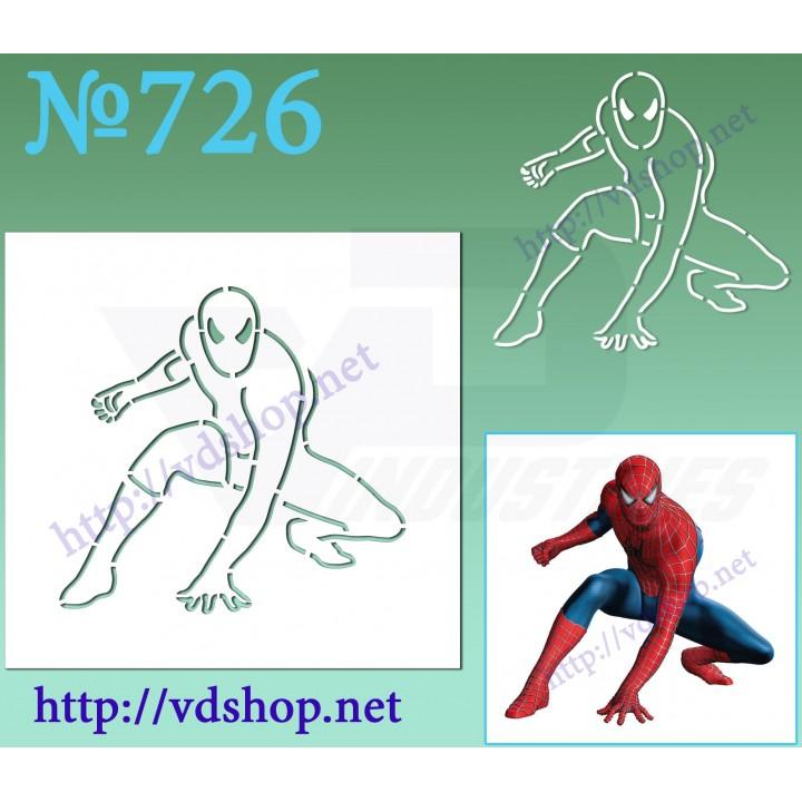 """Трафарет многоразовый контурный №726 """"Человек паук в прыжке"""""""