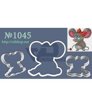 """Вырубка №1045 """"Милая мышка с бантиком"""""""
