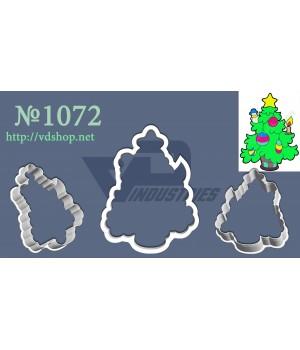 """Вырубка №1072 """"Пышная елка с игрушками"""""""