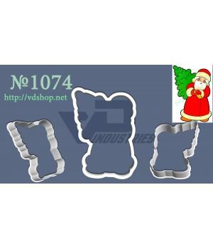 """Вырубка №1074 """"Дед Мороз с елкой"""""""