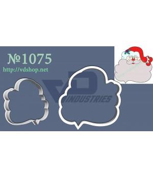 """Вырубка №1075 """"Дед Мороз с бородой-рамочкой"""""""