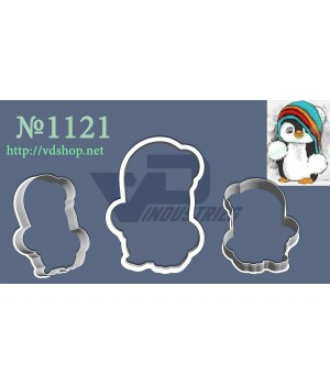 """Вырубка №1121 """"Пингвин в шапке"""""""