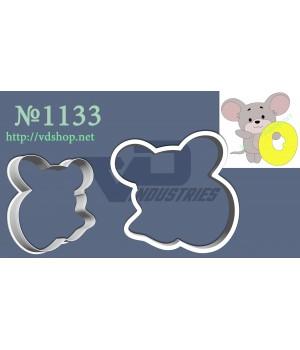 """Вырубка №1133 """"Мышка с цифрой 0"""""""