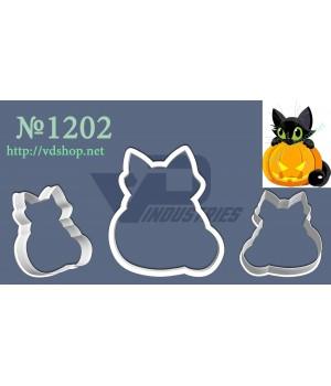 """Вырубка №1202 """"Черный кот с тыквой"""""""
