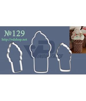 """Вырубка №129 """"Мороженое в стаканчике"""""""