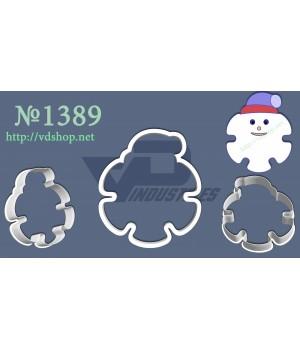 """Вырубка №1389 """"Снежинка в шапке"""""""