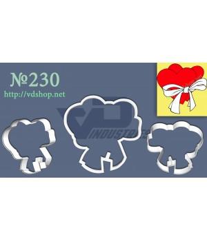 """Вырубка №230 """"Два сердца с бантиком"""""""
