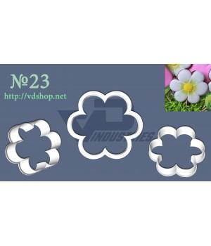 """Вырубка №23 """"Цветок 6 лепестков"""""""