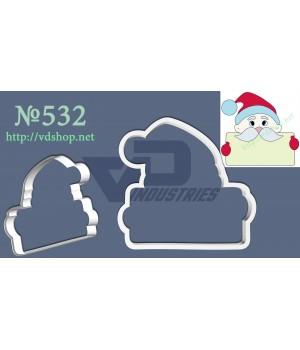 """Вырубка №532 """"Санта с открыткой"""""""