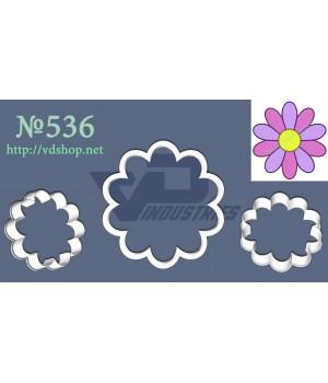 """Вырубка №536 """"Цветок 10 лепестков"""""""
