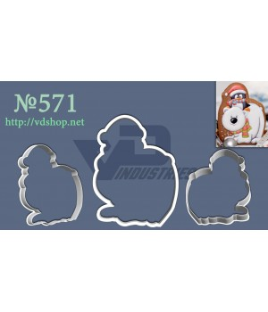 """Вырубка №571 """"Пингвиненок на белом медведе"""""""