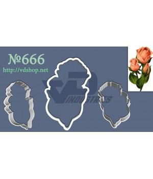 """Вырубка №666 """"Три розы"""""""