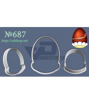 """Вырубка №687 """"Яйцо в ромашке"""""""