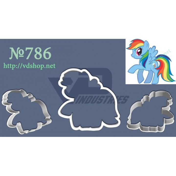 """Вырубка №786 """"Мои маленькие пони - Радуга Деш"""""""