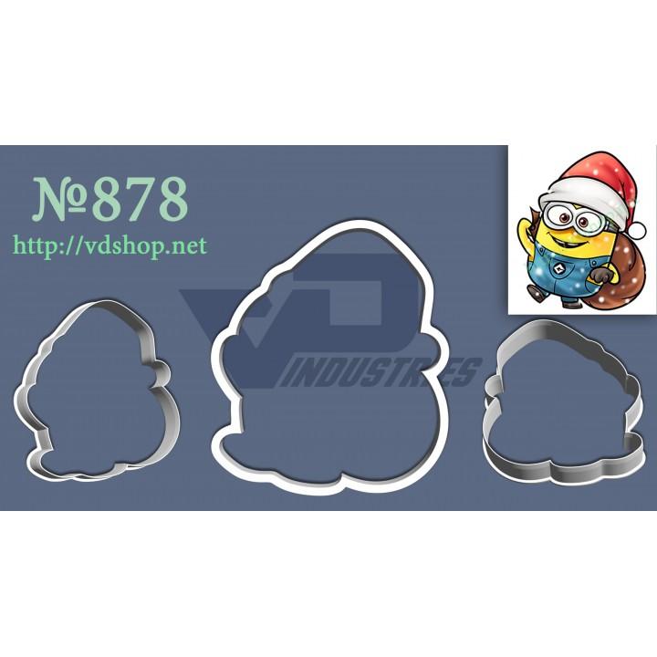 """Вырубка №878 """"Миньон с мешком и в новогодней шапочке"""""""